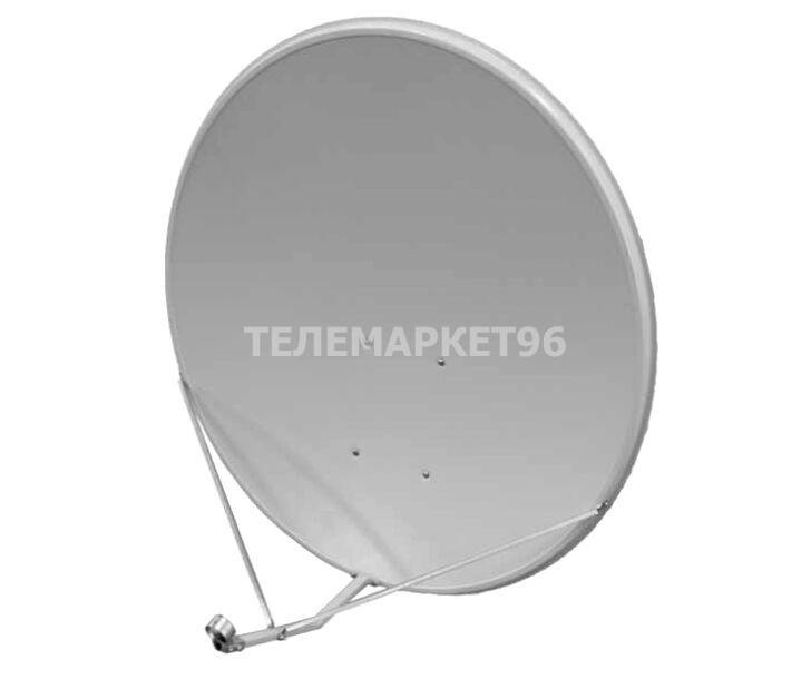 Спутниковая антенна офсетная цельная стальная d90см АлМет Супрал