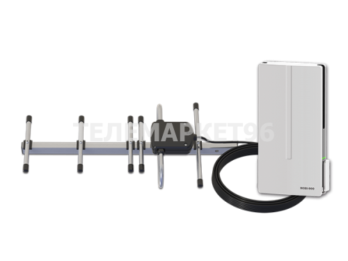 Комплект усилителя GSM сигнала MOBI-900 GSM Country- репитер с внешней антенной