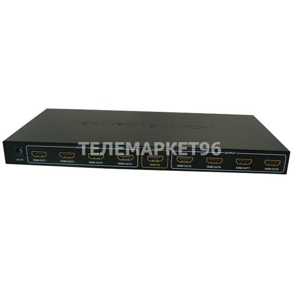 Активный делитель HDMI на 8 выходов